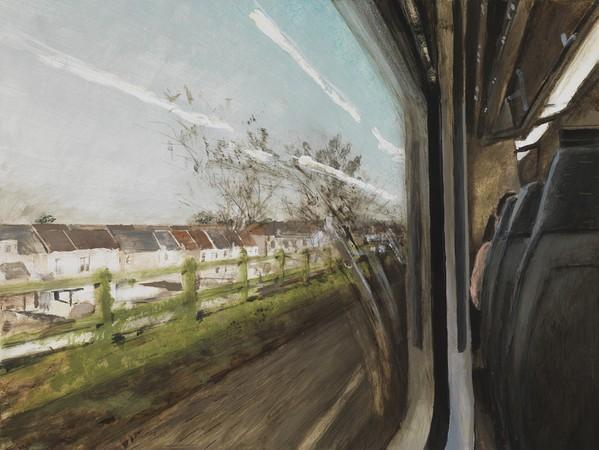 Window of a Train, Brussels