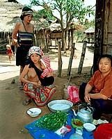 Four Generations of Akha Women