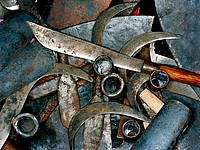 tools made from bomb metal