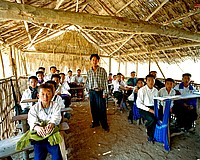 Hmong two room schoolhouse