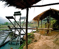 waterwheel winnows rice