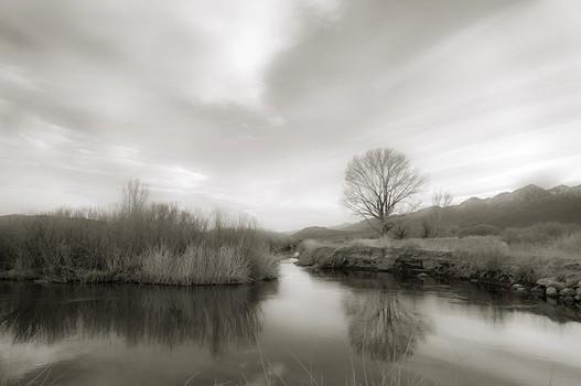 Evening, Owens River