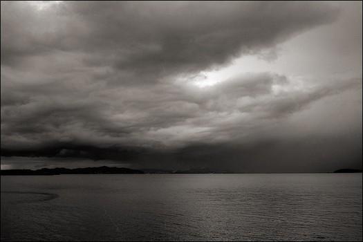 Hail Storm in San Francisco Bay