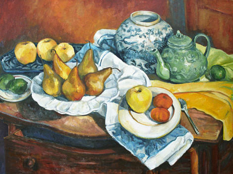 Still LIfe with Bosc Pears