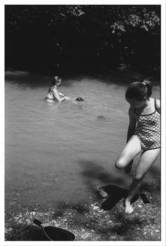 Katie, Swimming hole, Hazel Valley, Arkansas