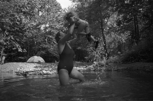 Mary and Rayla, Swimming Hole, Hazel Valley, Arkan
