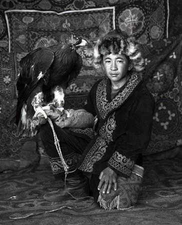 Kazakh Boy w/ Eagle