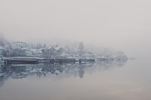 My Hometown draped in Mist