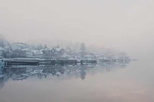 My Hometown draped in Mist